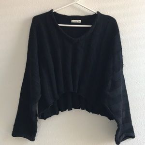 🍁🍂 Cotton On Ribbed Wide Sleeve Sweater, Black